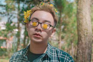flowers daytime eyeglasses eyewear man person