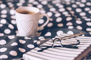 focus cappuccino coffee drink drink dawn coffee blur mug cup of coffee eyeglasses
