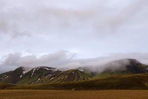 fog mountain mist daytime green time-lapse