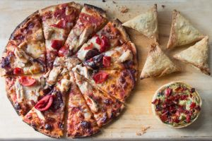 food quiche samosa pizza