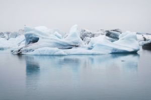 frost iceberg nature frozen melting daytime ice floating cold frosty