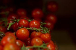 fruit cherry tomatoes food tomatoes picking