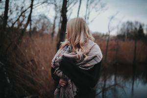 girl woman scarf fashion person female wear