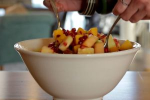 grapes healthy kiwi ceramics food bowl fruits mix