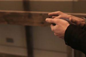 hands smartphone wood blur suit swipe touchscreen navigation