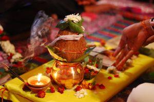 handset wedding pot coconut candle beautiful flowers smoke trail