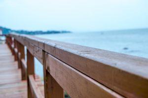 harbour seaside wood fence wood