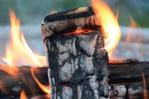heat flames wood hot burning fire