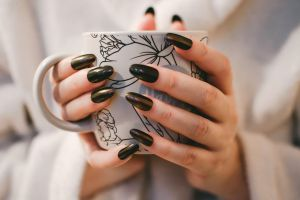 human ceramic coffee mug cup nails cup of coffee hands caffeine young