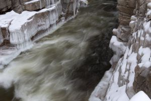 ice snow winter rocks water nature