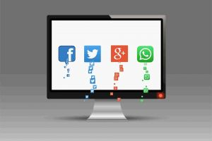 icons screen whatsapp social media facebook twitter animated