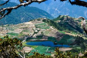 lake water travel philiipines highlands mountain water nature park farm mountain philippines serene top view