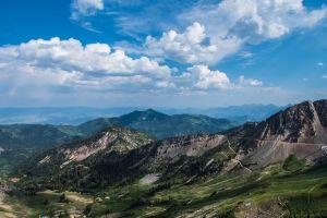 landscape ski mountain fine art snowbird art climb summit resort summer
