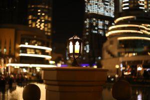 lantern lamp night dubai lights down town