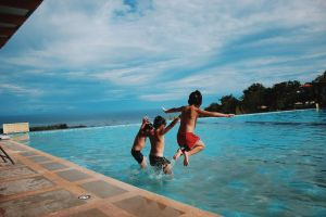 leisure children beach sea enjoyment swimming fun ocean water resort