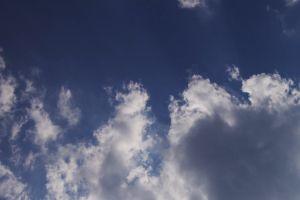 low angle shot moving clouds sky beautiful daylight blue sky
