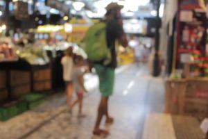 marketplace market kids walking blur people looking