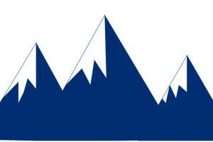 minimalist mountains vector