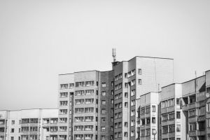 modern building blank space architectural design black and white fortress modern architecture architecture apartment building