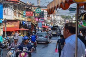 motorbikes wires street markets thai people traffic jam thailand bangkok cars