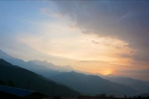 mountains scenic nature sunrise sky time lapse dawn clouds