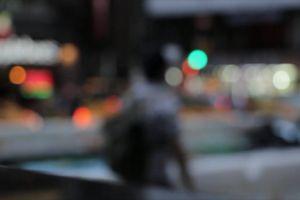 moving cars people walking blur street time-lapse vehicles