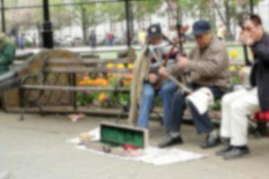 musical instrument music musicians men instruments daylight street