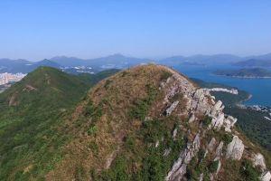 nature aerial shot mountain