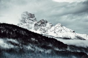 nature photography nature scenic mountains trees mountain peaks landscape woods black and white sky