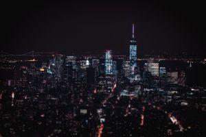 night downtown city buildings citylights architecture urban lights skyline evening