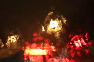 night traffic glass lights wet car dark blur water rain