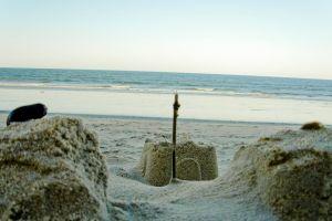 ocean beach sand castle