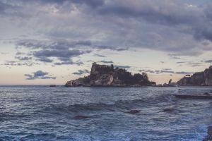 ocean nature horizon waves seascape beach seashore dawn castle summer