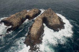 ocean rocks sea aerial shot water waves