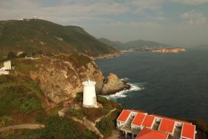 ocean sea lighthouse water coast aerial shot