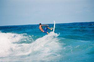 ocean surf waves surfer man