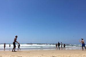 people waves water shore summer fun sea sand beach