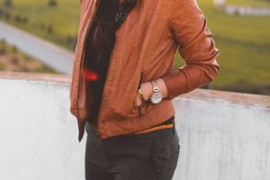 person girl fashionable jacket fashion female outerwear woman wear