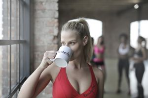 person white fitness pretty active professional work people girl tea