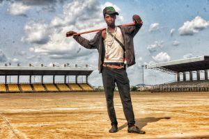 photo creative epic beautiful street fulani pose nigerian herdsman