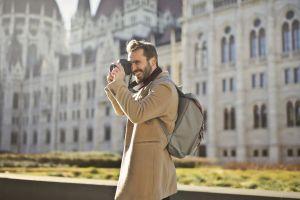 photography architecture man camera wear style city landmark daylight street