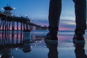 pier beach coffee sunset coffee time