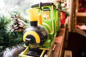 pinecone light christmas toy train