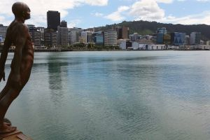 promenade statue clouds city esplanade sky outdoor sea sea life blue