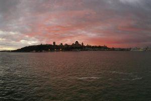 quebec canada st-lawrence levis st-laurent sunset water