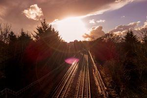 railway tracks london underground railway