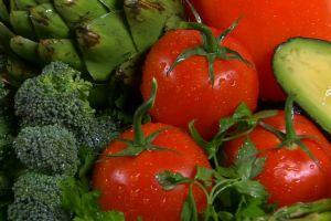 raw tomatoes vegetables broccoli avocado food close-up fresh wet celery