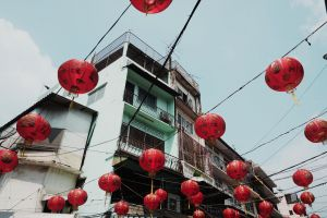 red city chinese architecture chinatown chinese architecture