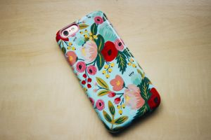rifle paper co. apple iphone red green iphone 6 flowers phone case smartphone blue apple