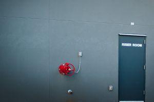 riser exit gray wall valve